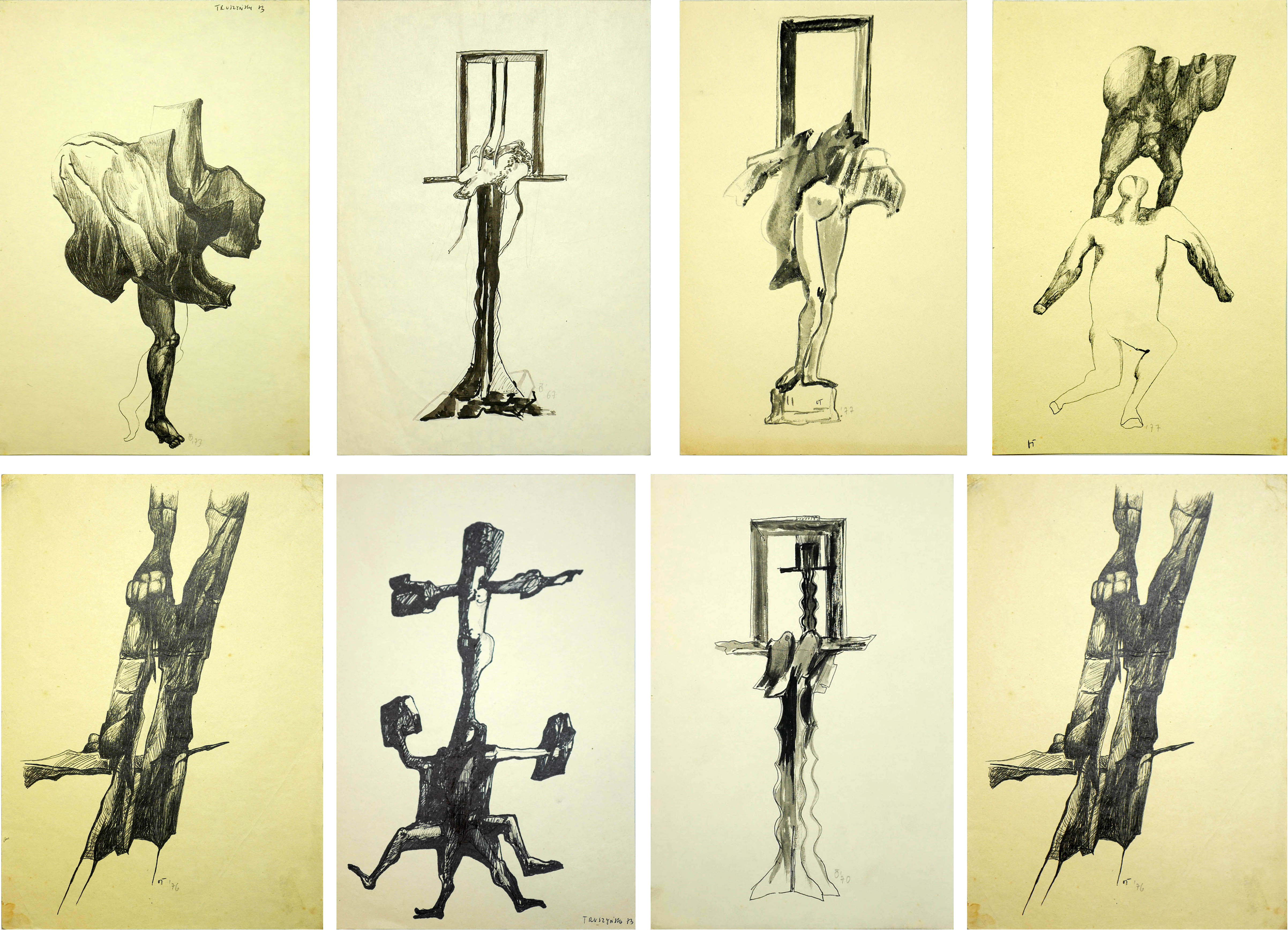 Zestaw 7 szkiców, 1976 r.