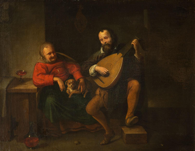 Lutnista we wnętrzu, 1644