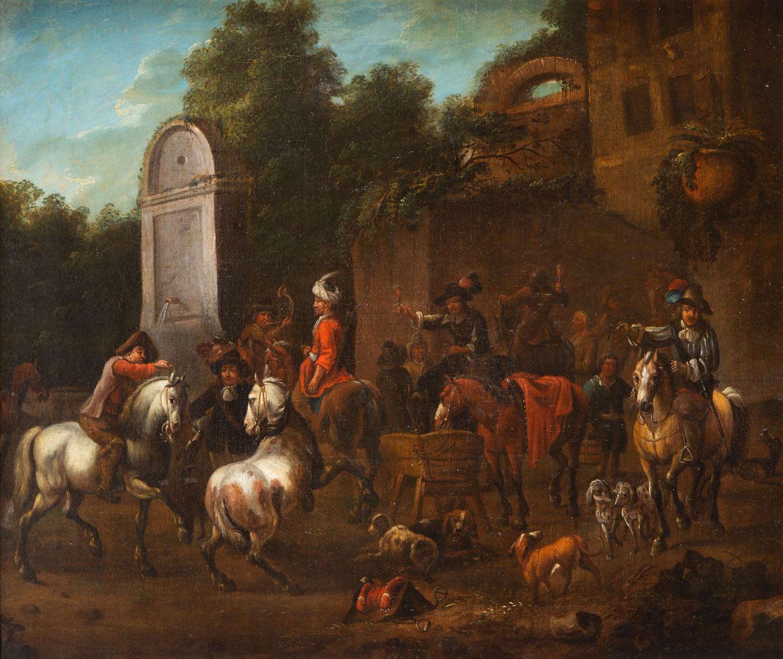 Simon van Douw, w typie (1630 Antwerpia - 1677 Antwerpia)