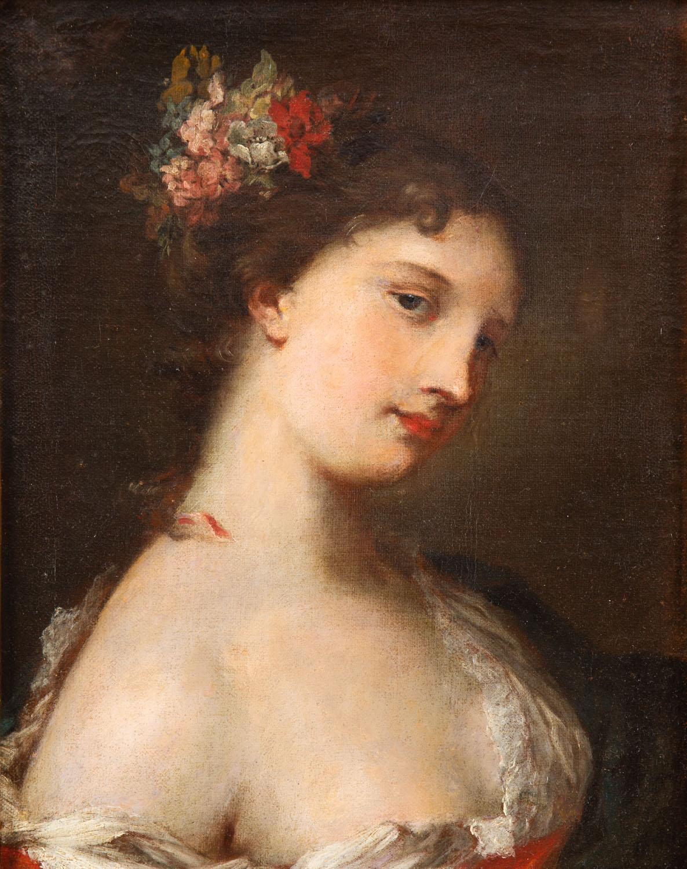 Portret damy w typie Rosalby Carriery