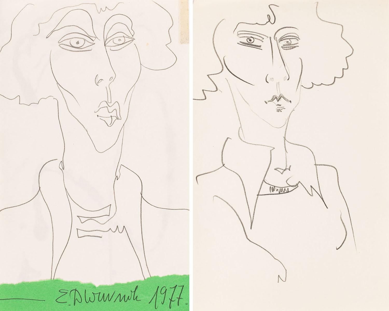 Dwa portrety kobiety, 1977