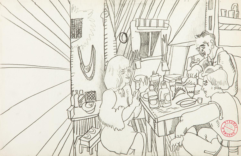"""Praca z cyklu """"Paryż"""", 1967"""