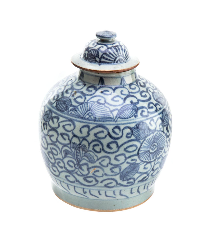 Waza z pokrywką typu Qinghua, Chiny, XIX w. ?