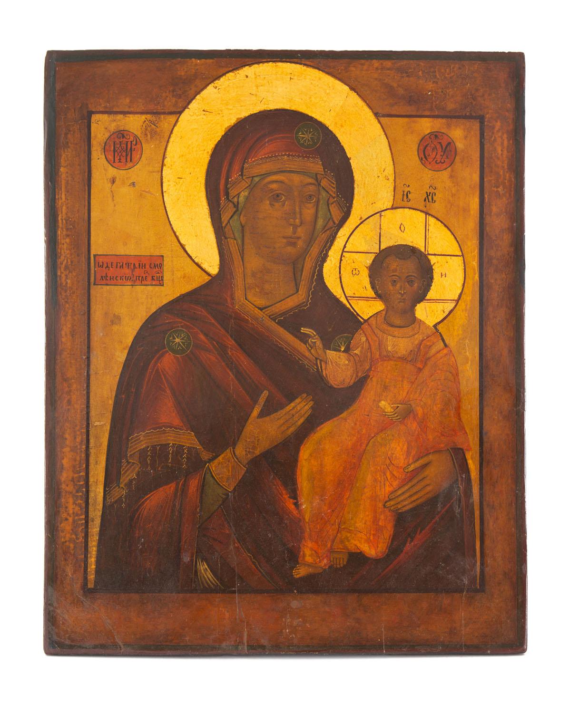 Ikona - Matka Boska Smoleńska, Rosja, około poł. XIX w.