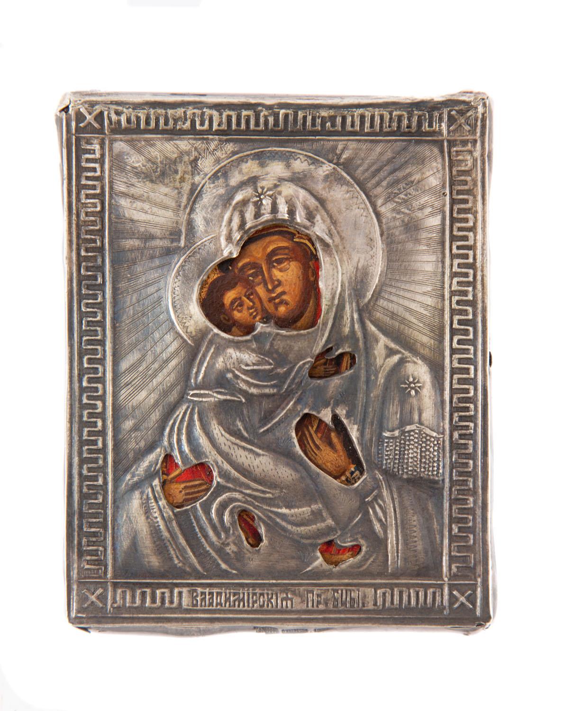 Ikona - Matka Boska Włodzimierska, Rosja, 1890
