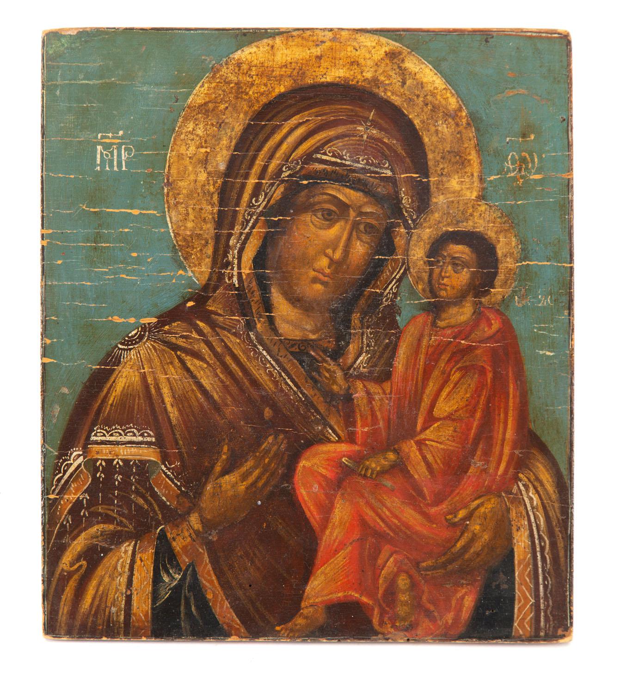 Ikona - Matka Boska Hodegetria, Rosja, około poł. XIX w.
