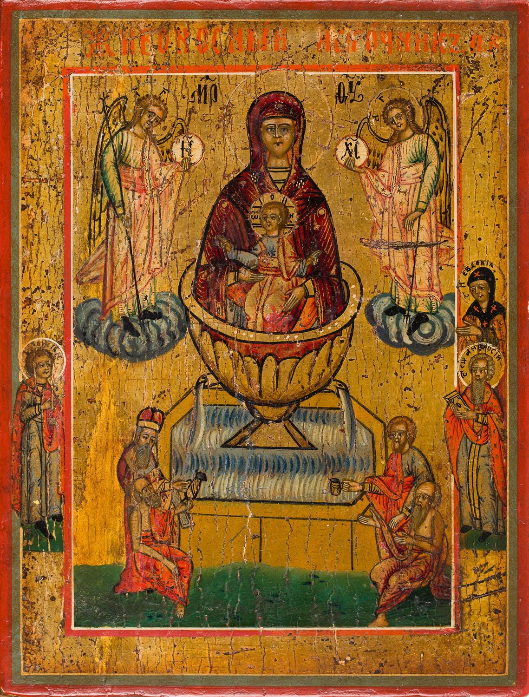 Ikona - Matka Boska Życiodajnego Źródła, Rosja, 2 poł. XIX w.