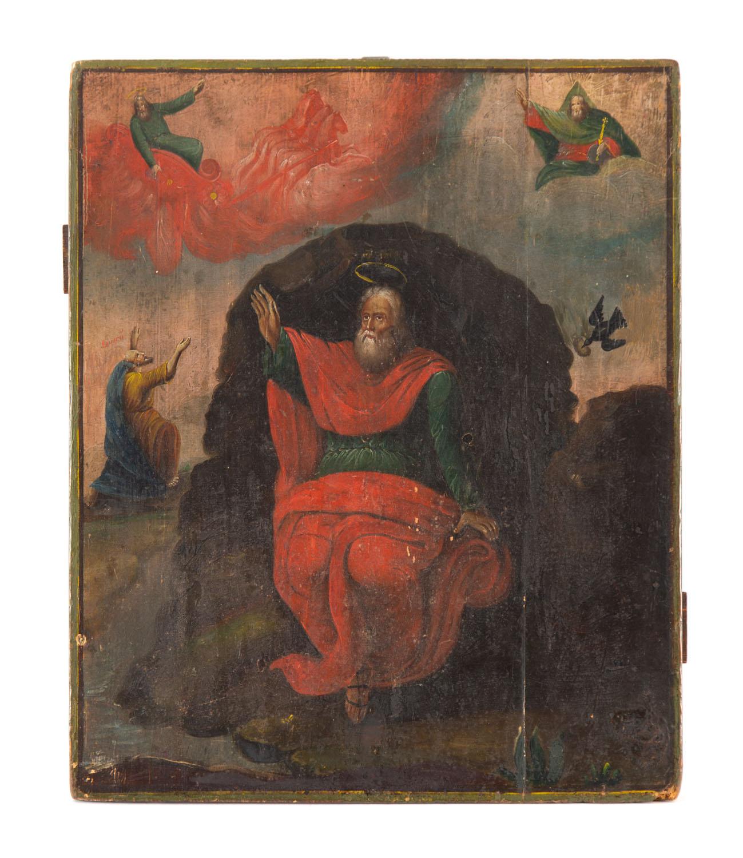 Ikona - Wizja proroka Eliasza, Rosja, pocz. XIX w.
