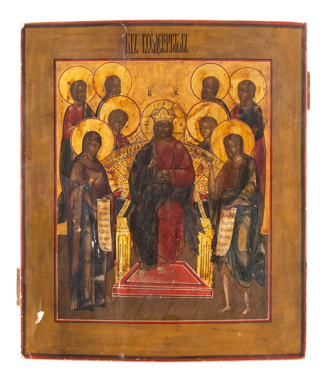 Ikona - Wielkie Deesis, Rosja, 2 poł. XIX w.