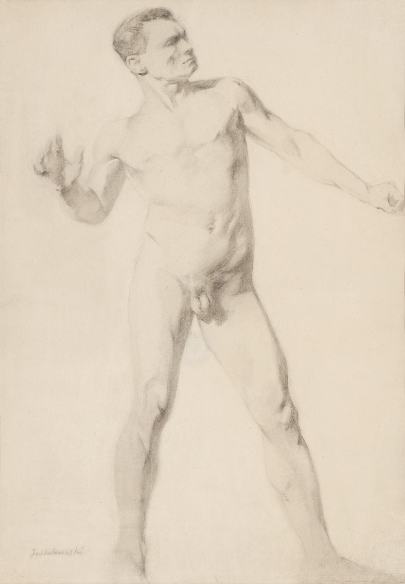 Akt męski stojący, ok. 1873-1877