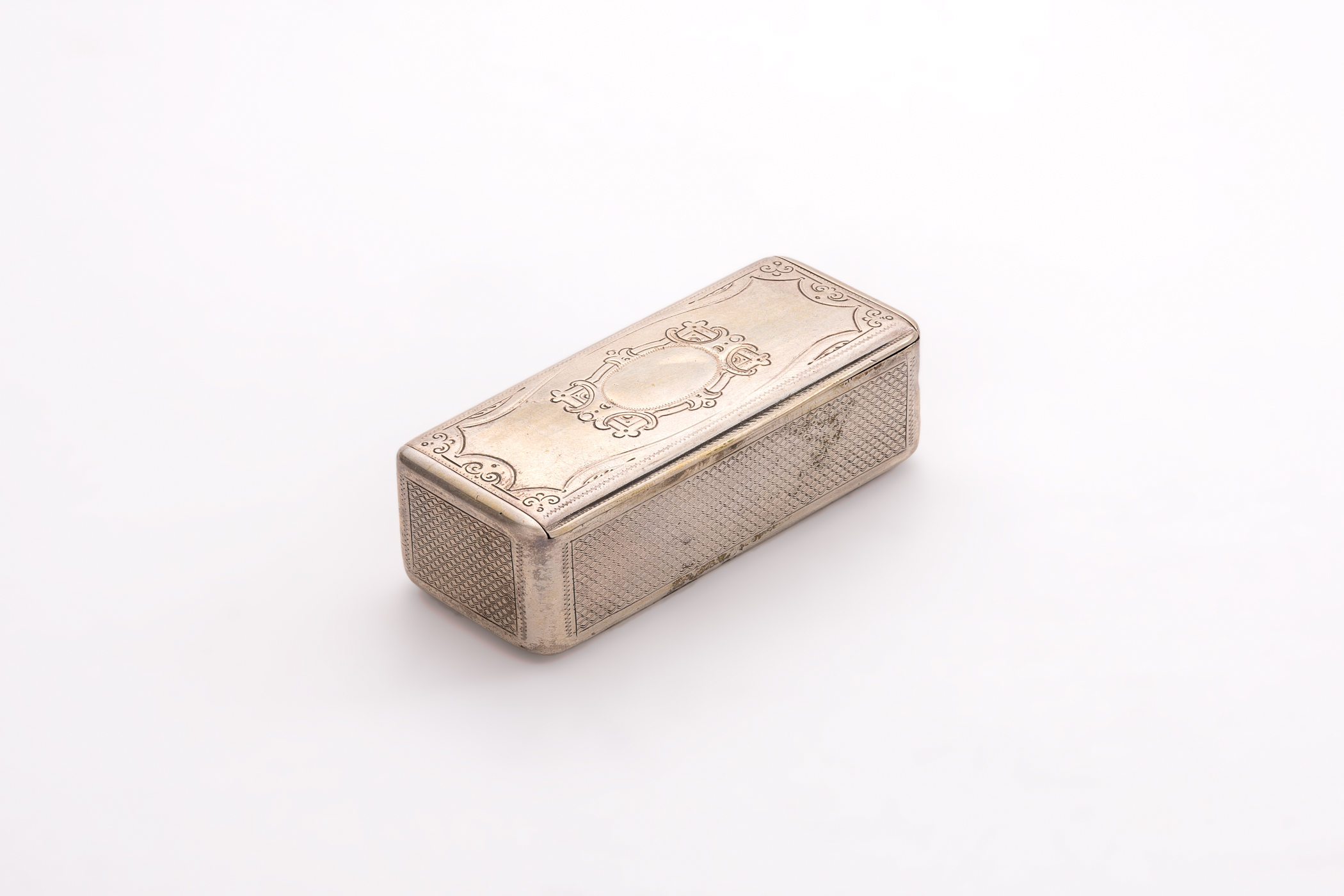 Tabakierka, srebro 13 łut, Wiedeń, koniec XIX w.