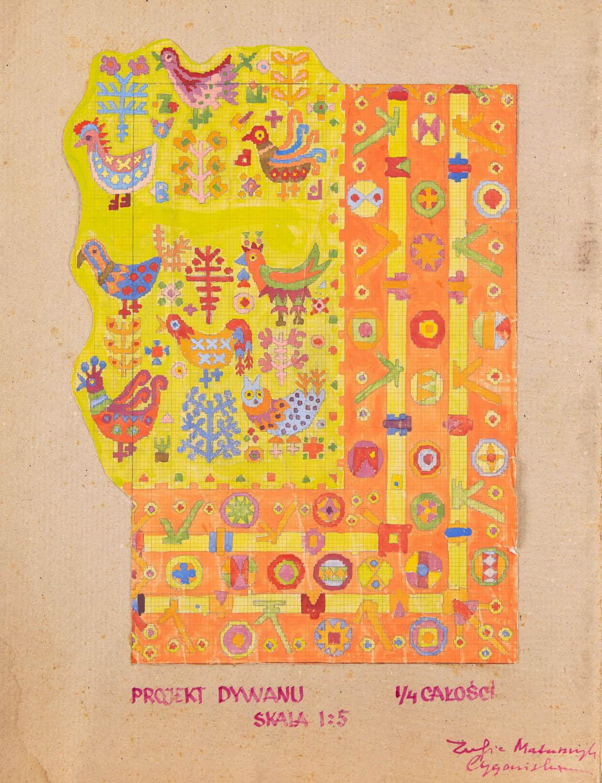 Projekt dywanu, lata 60. XX w.