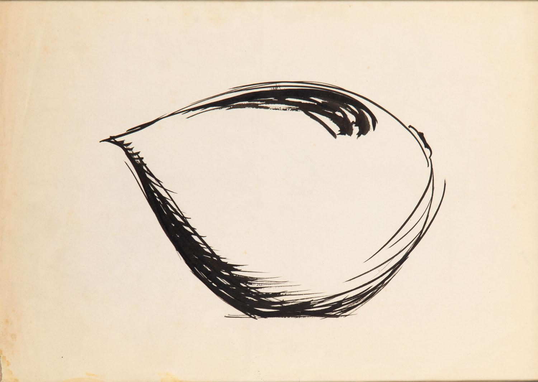 Szkic do projektu dzbanka z serwisu Dorota, lata 50. XX w.