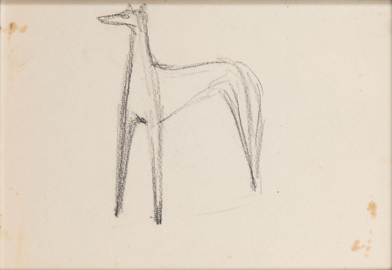 Szkic do projektu figurki Charta, lata 50. XX w.