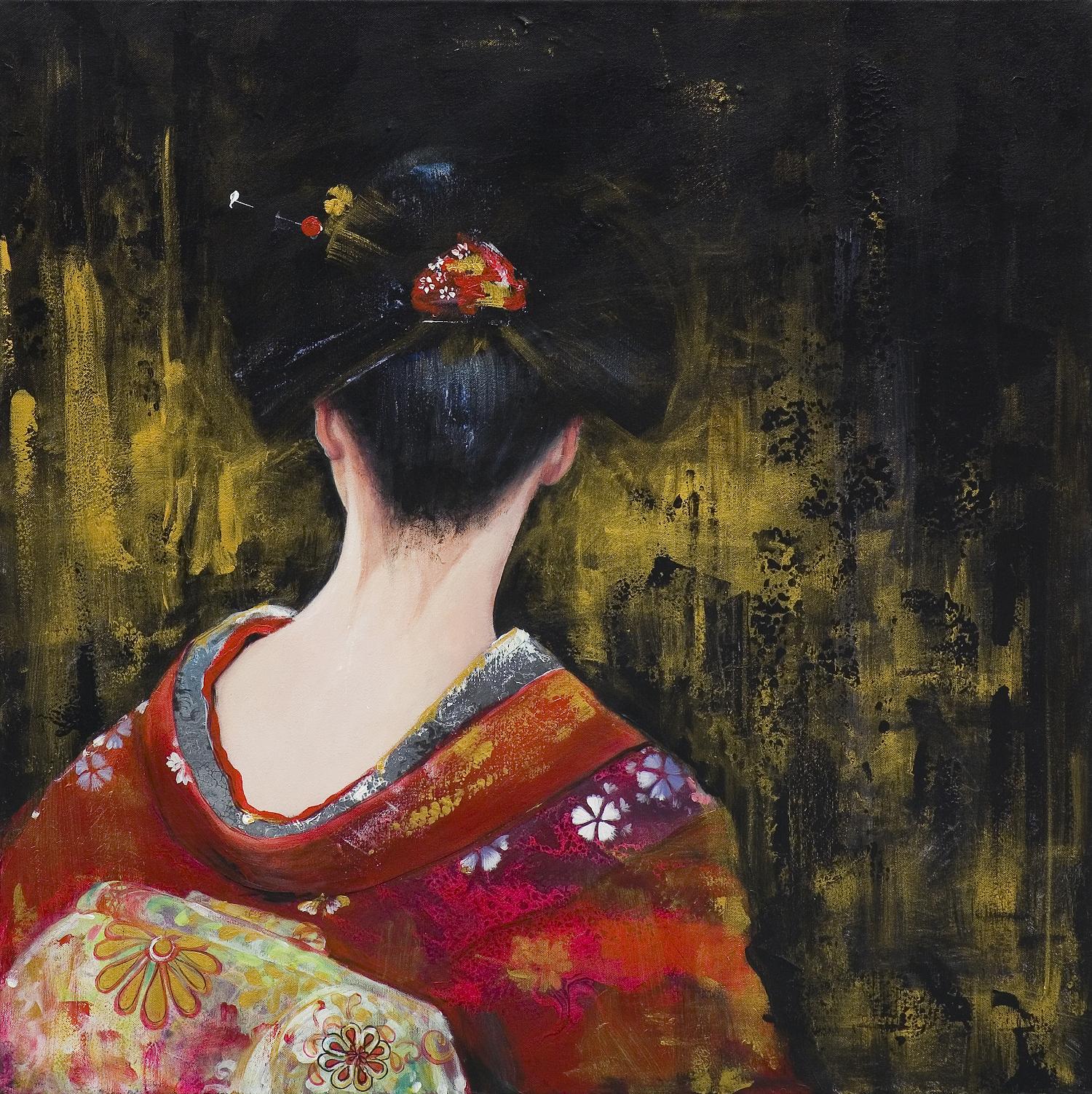 Z cyklu Kimono i wachlarz, Geisha II, 2020