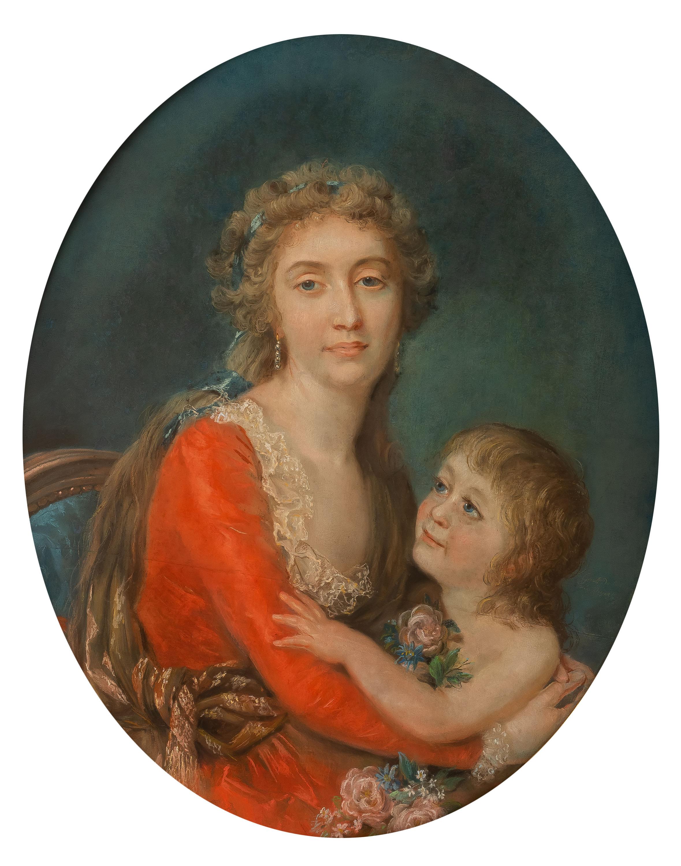 Portret damy z dzieckiem