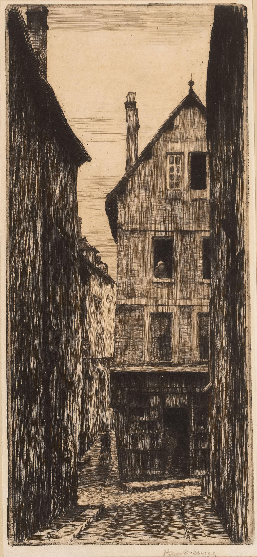 Uliczka w Chartres, około 1903 r.