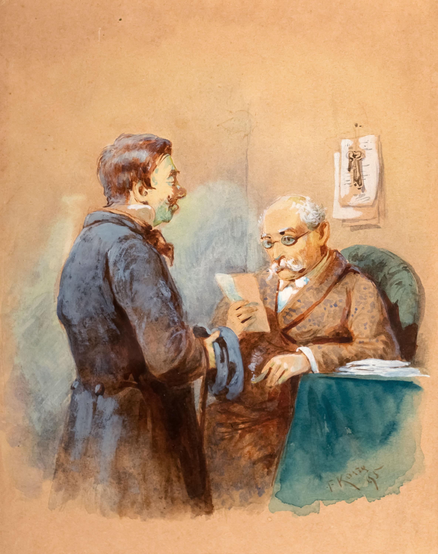 Posłaniec z listem, 1895 r.