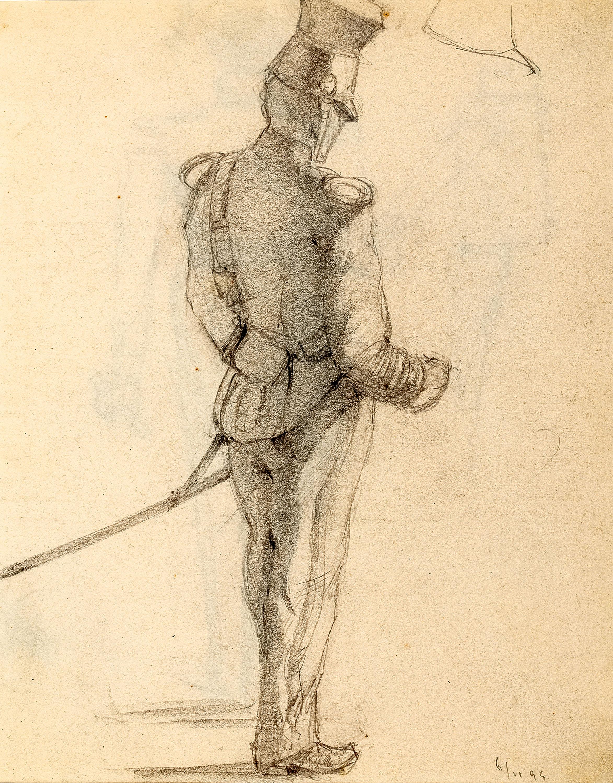 Studium stojącego ułana, 1894 r.