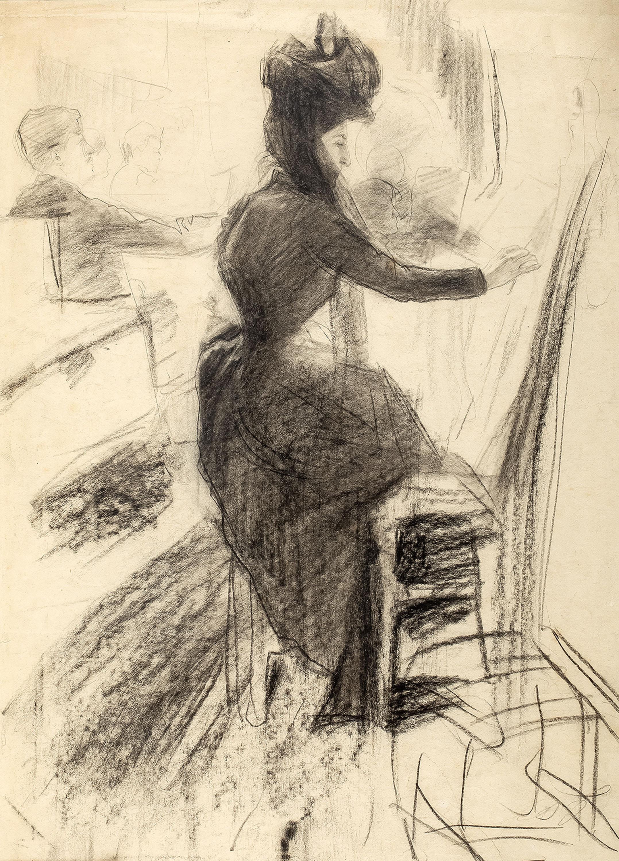 W pracowni lekcja rysunku, ok. 1895