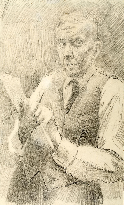 Autoportret ze szkicownikiem