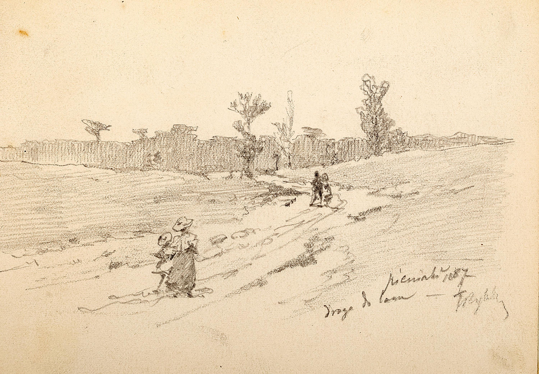 Droga do lasu, 1887 r.