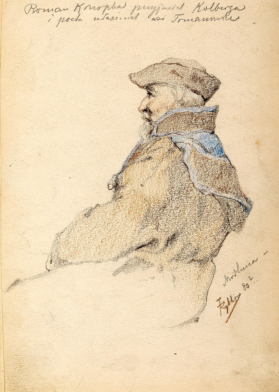 Roman Konopka przyjaciel Kolberga, 1880 r. (?)