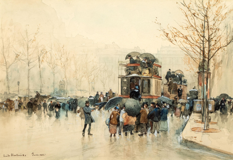 Paryż w deszczu, 1882 r.