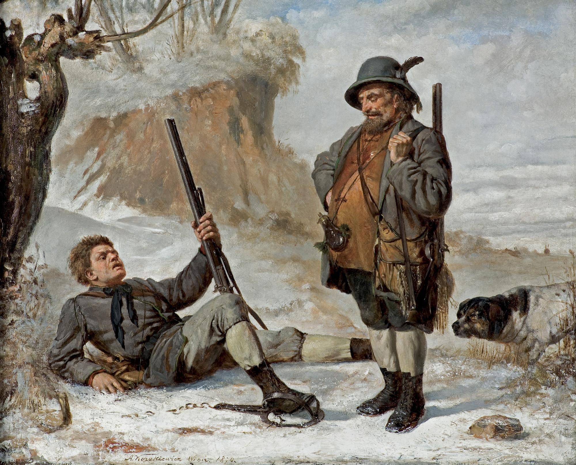 WYPADEK NA POLOWANIU, 1870