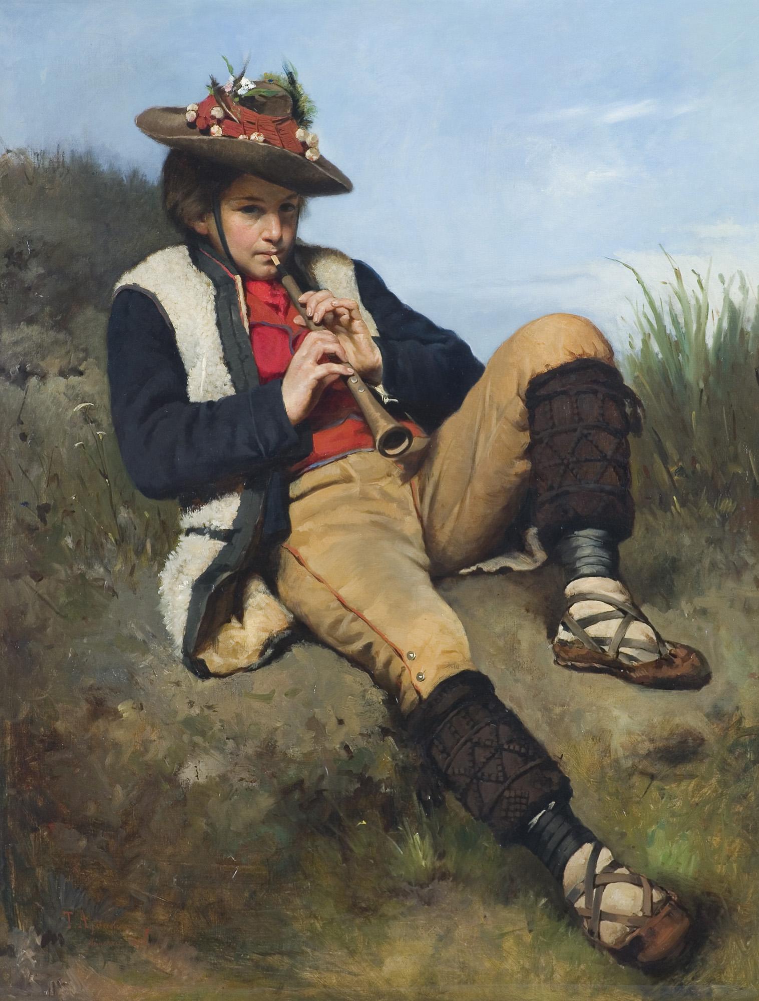 CHŁOPIEC GRAJĄCY NA FLECIE, 1875