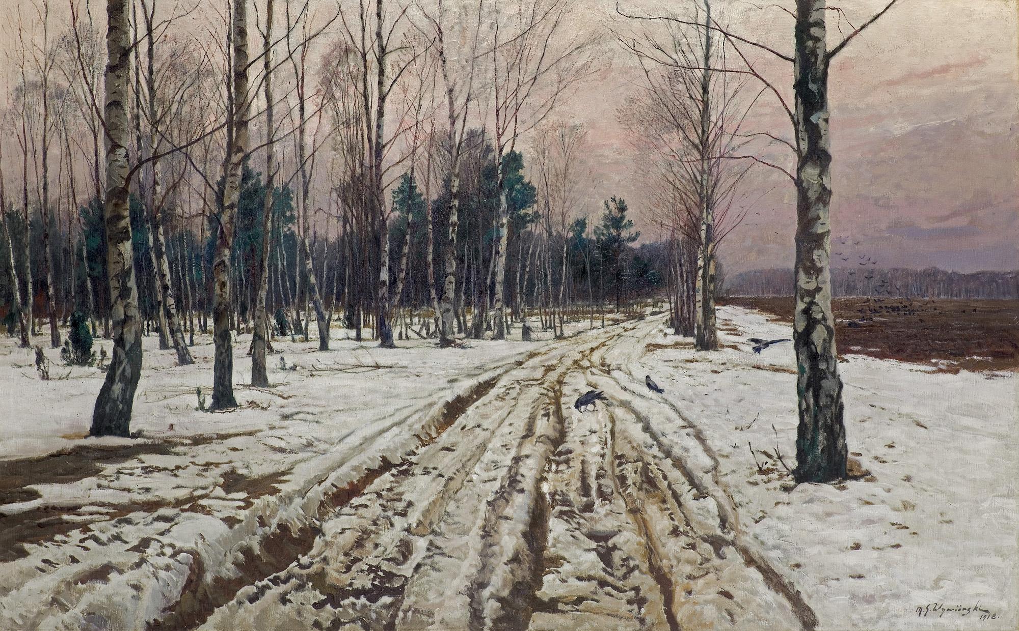 ZIMOWY PEJZAŻ, 1918