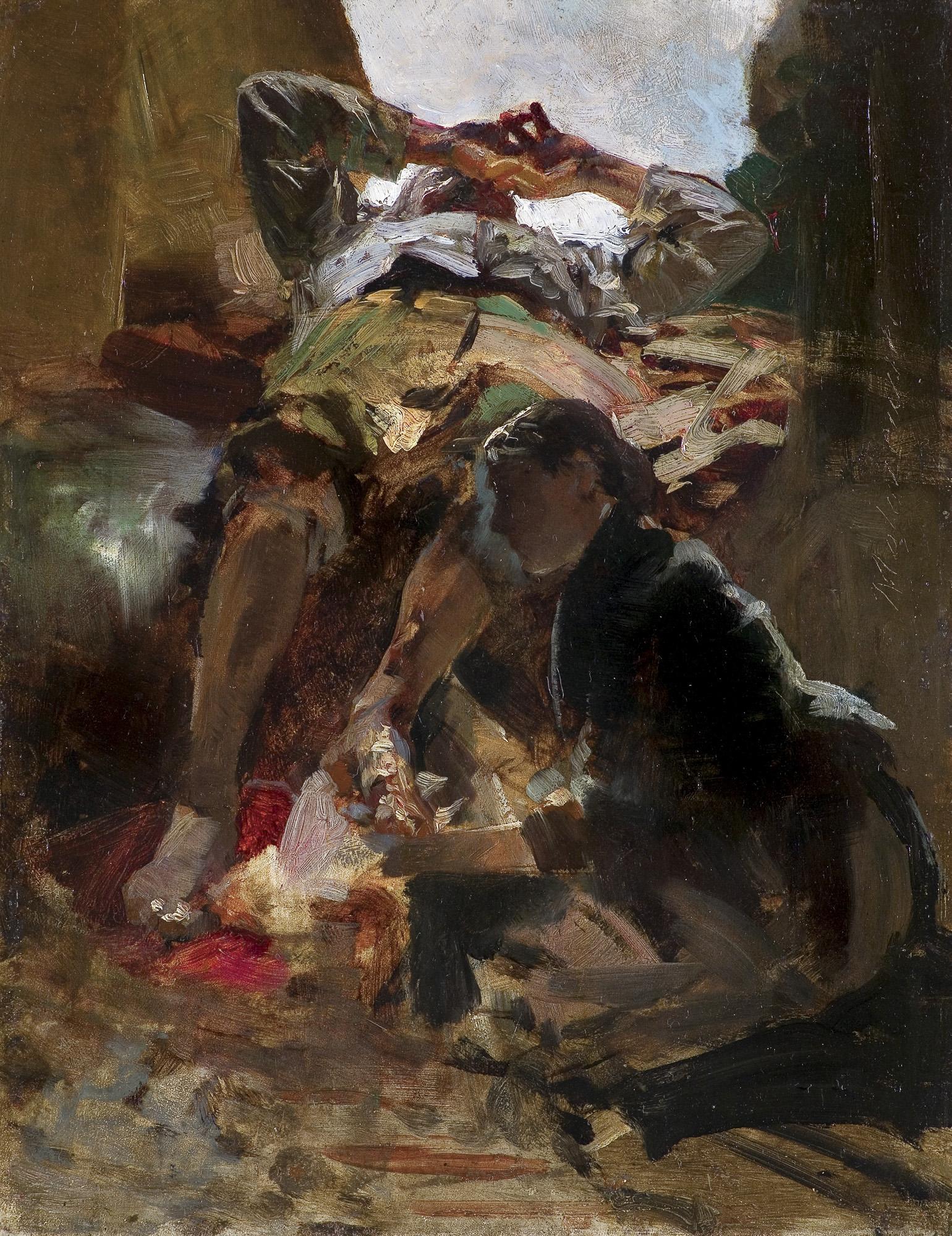 SCENA SYBIRSKA. UMYWANIE NÓG, 1890