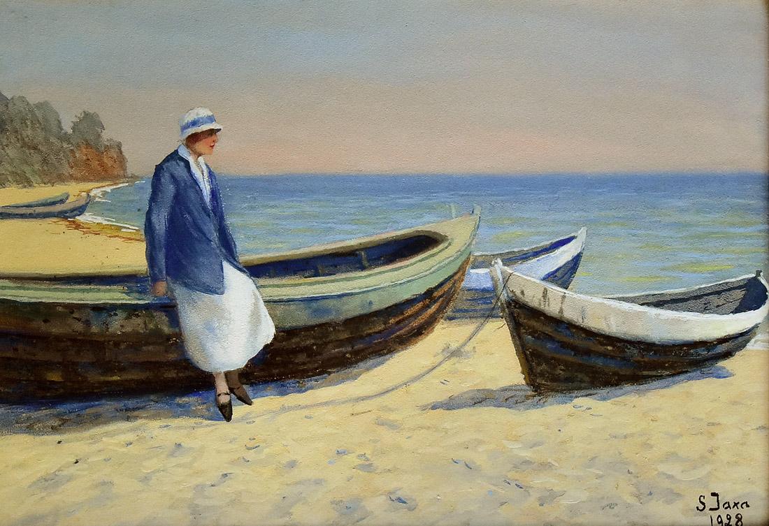 """""""Młoda kobieta nad brzegiem morza"""", 1928"""