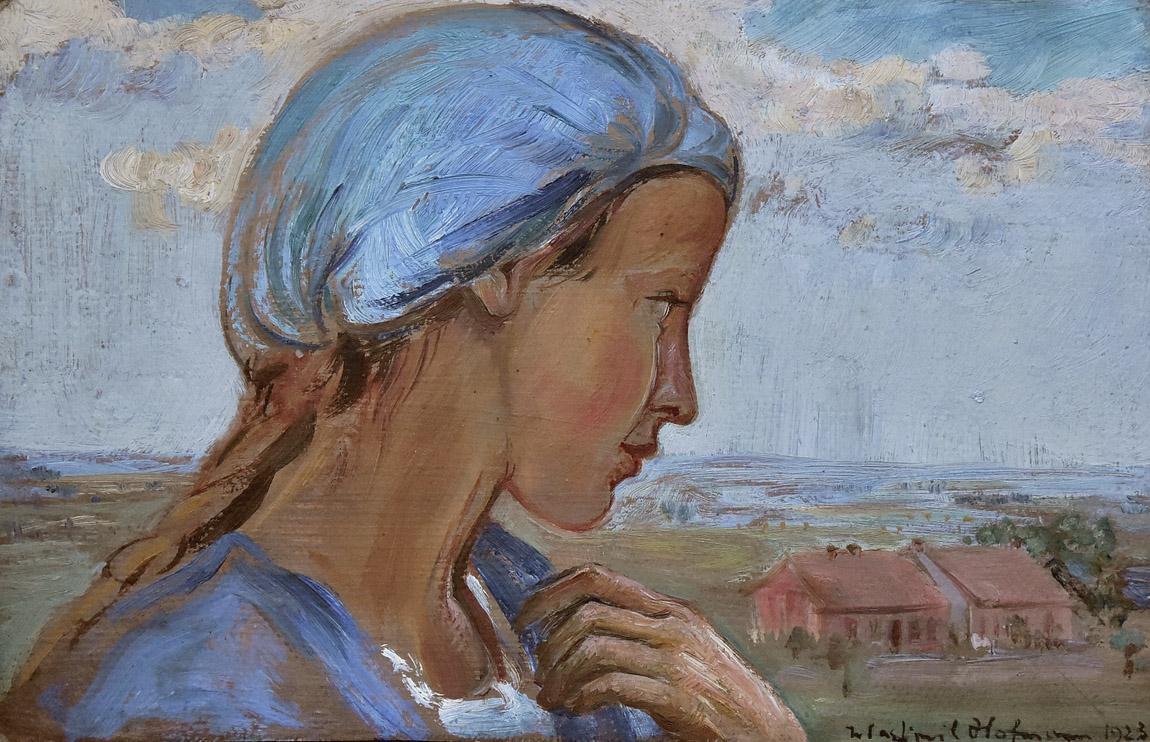 """""""Dziewczyna w błękitnym czepku"""", 1923"""