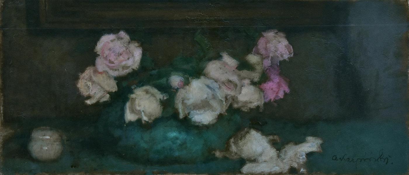 """""""Białe i różowe róże"""", ok. 1932"""