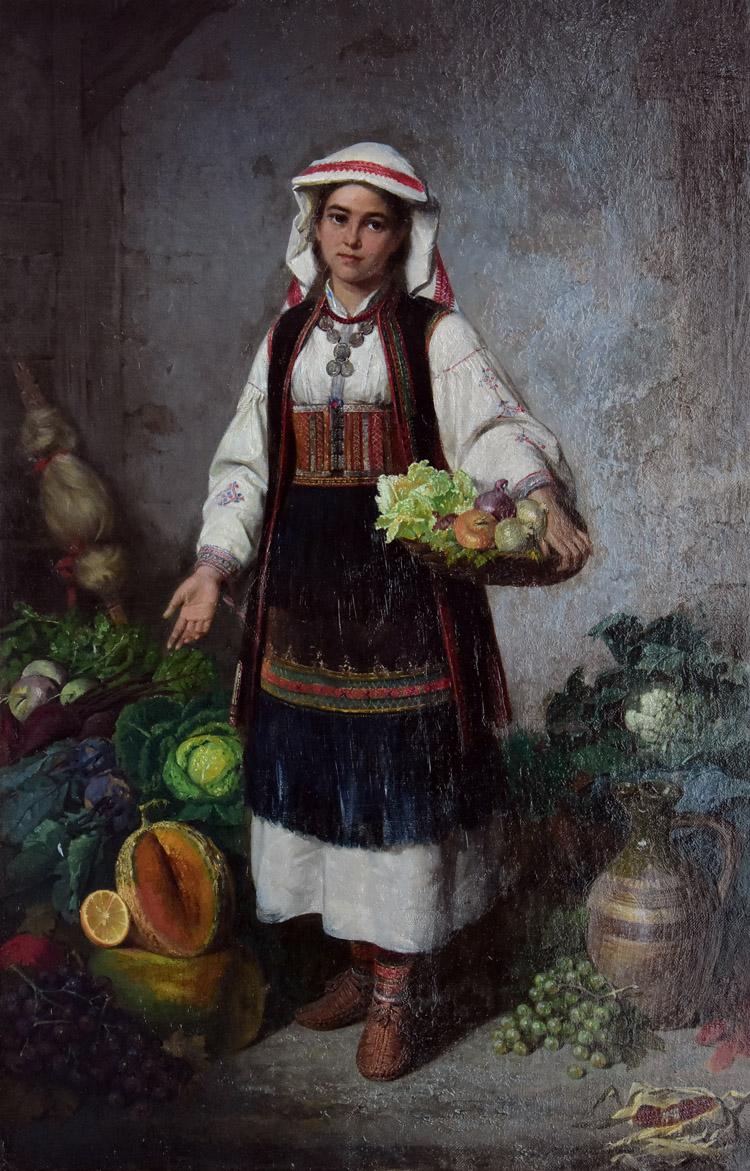 """""""Sprzedawczyni warzyw z Bałkanów"""", 1880"""