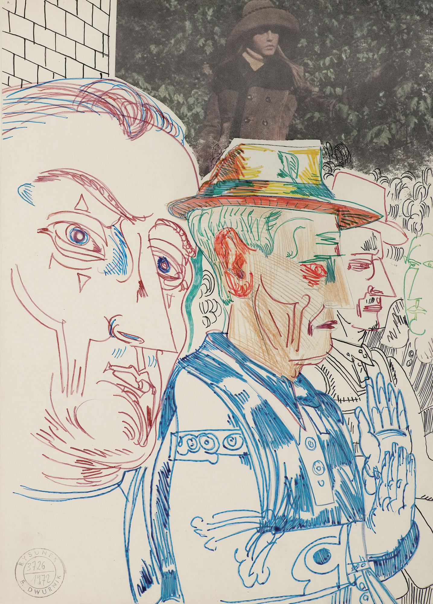 """CZERWONE UCHO, CZERWONE OKO..., z cyklu """"MOI BOHATEROWIE"""", 1972"""