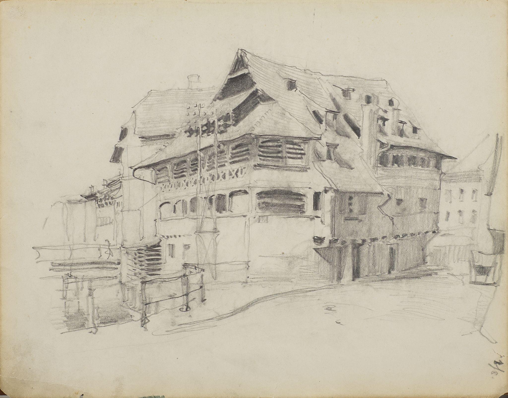 SZKIC Z LA PETITE FRANCE W STRASBURGU, 01.09.1892 r.