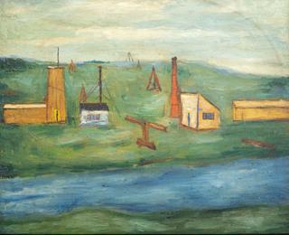 Pejzaż z rzeką, 1952
