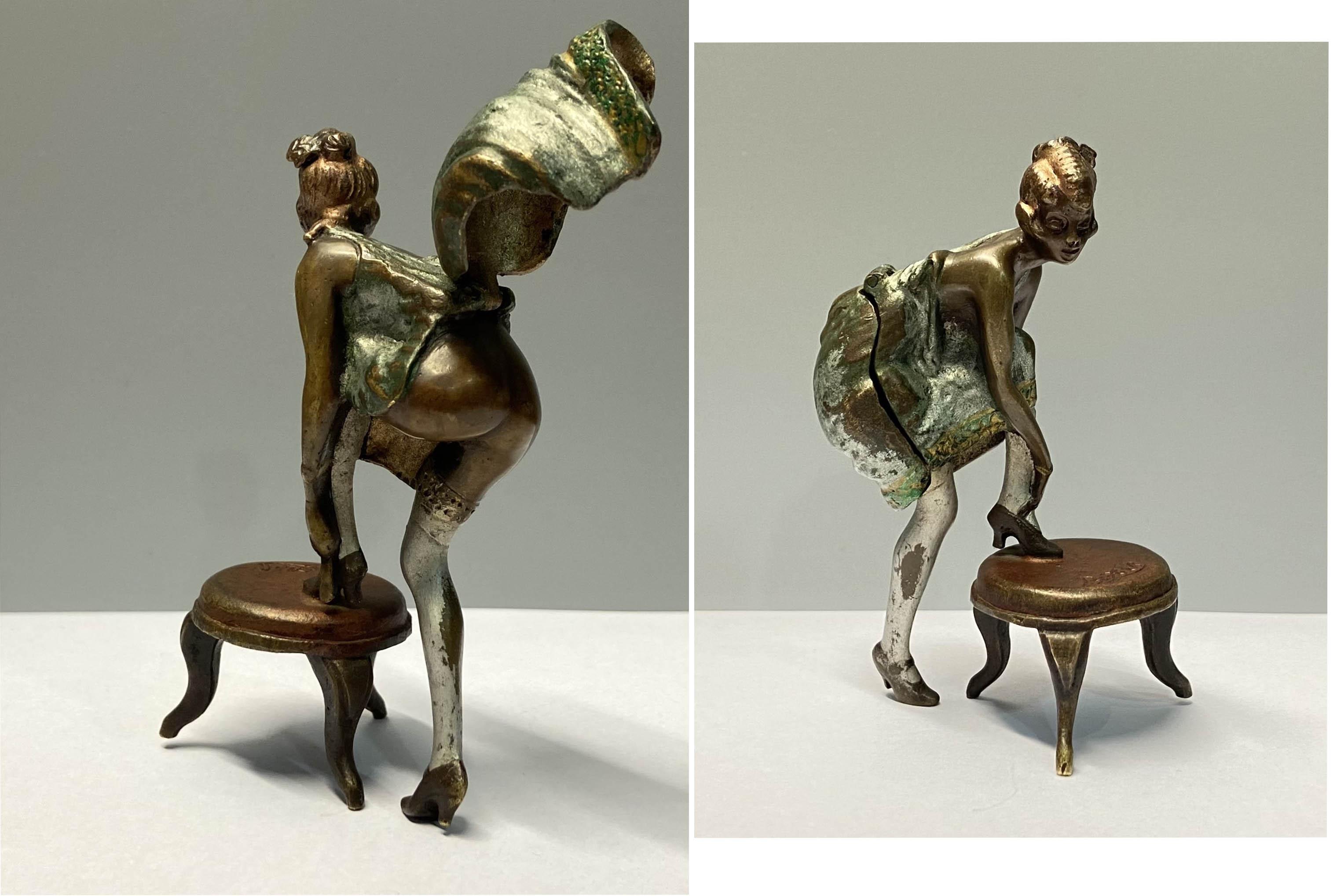 Dziewczyna wiążąca pantofelek, ok 1920 r.
