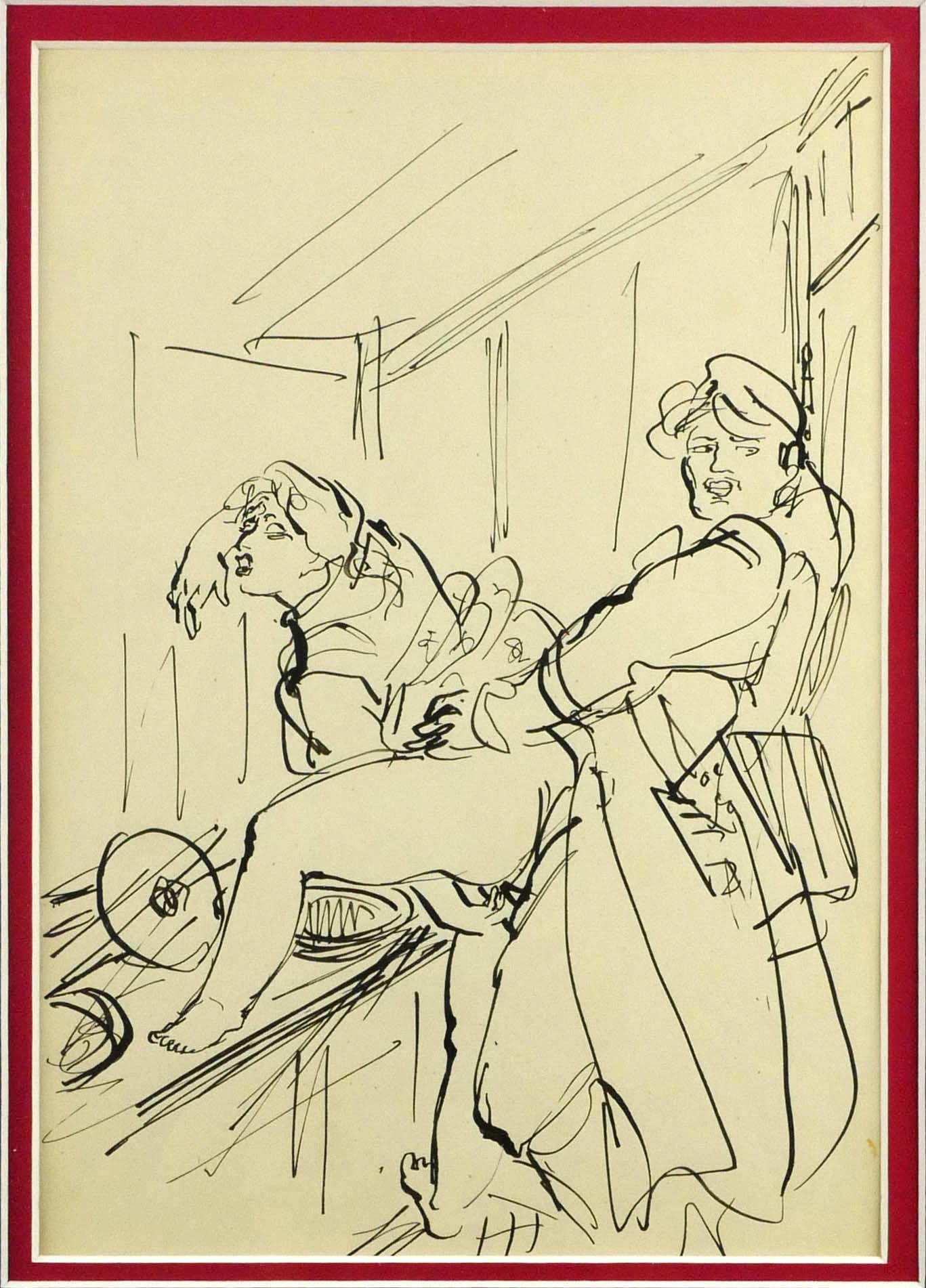 W toalecie - proj. ilustracji książkowej