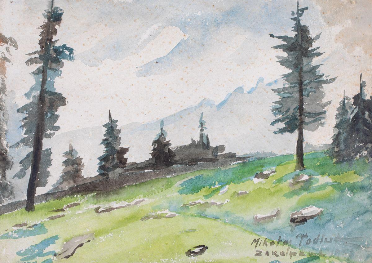 PEJZAŻ TATRZAŃSKI, 1951