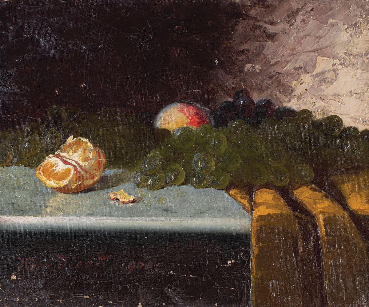 MARTWA NATURA Z OWOCAMI, 1900