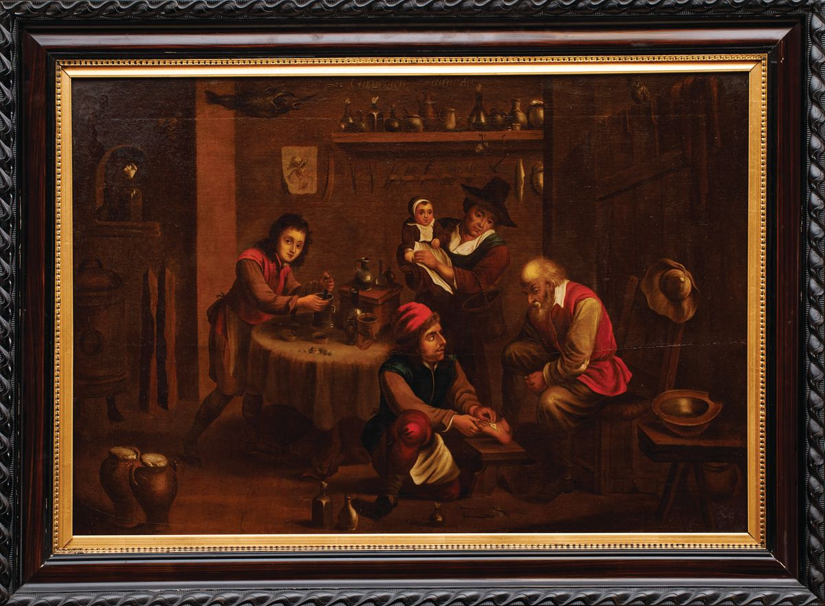 U CHIRURGA wg Davida Teniersa, XIX w.