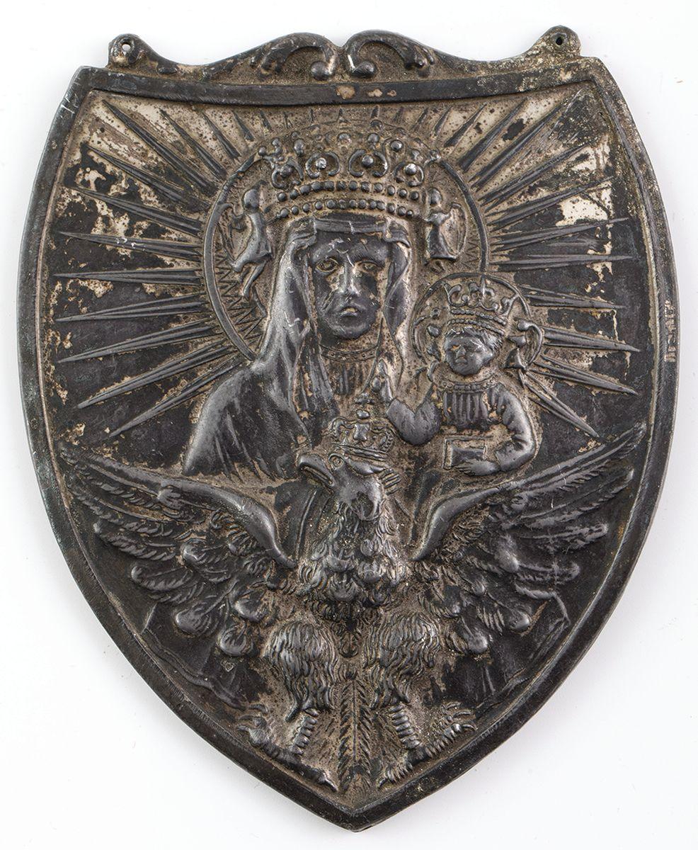 RYNGRAF Z MATKĄ BOŻĄ CZĘSTOCHOWSKĄ NA ORLE, Polska, ok. 1920