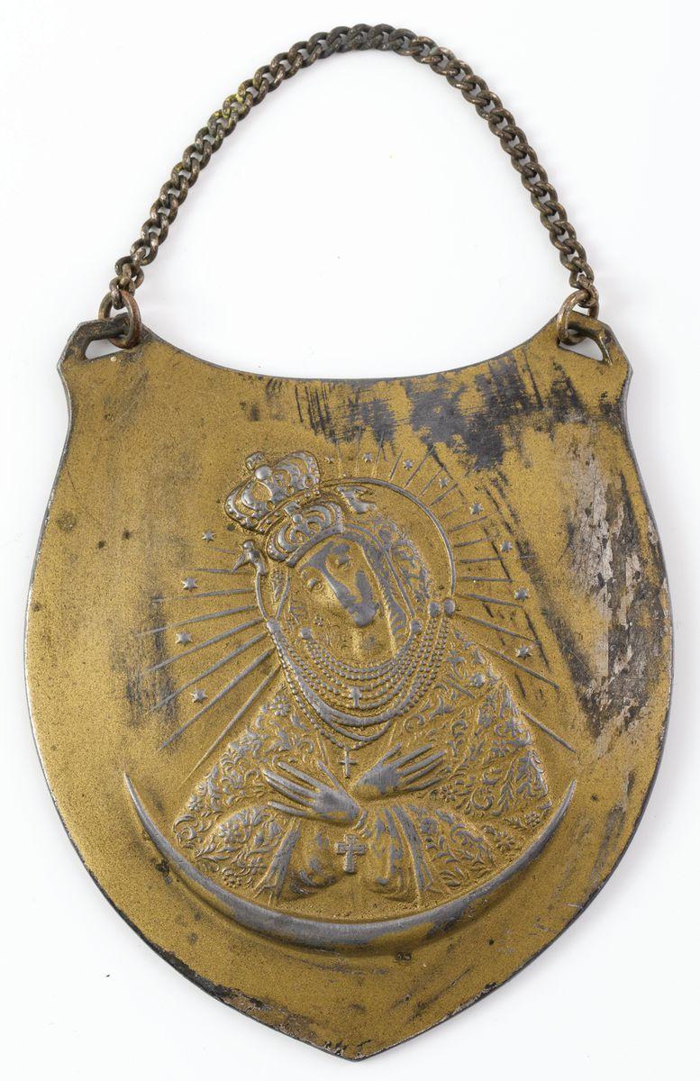RYNGRAF Z MATKĄ BOŻĄ OSTROBRAMSKĄ, Polska, Lwów, Jan Sopyło, ok. 1920