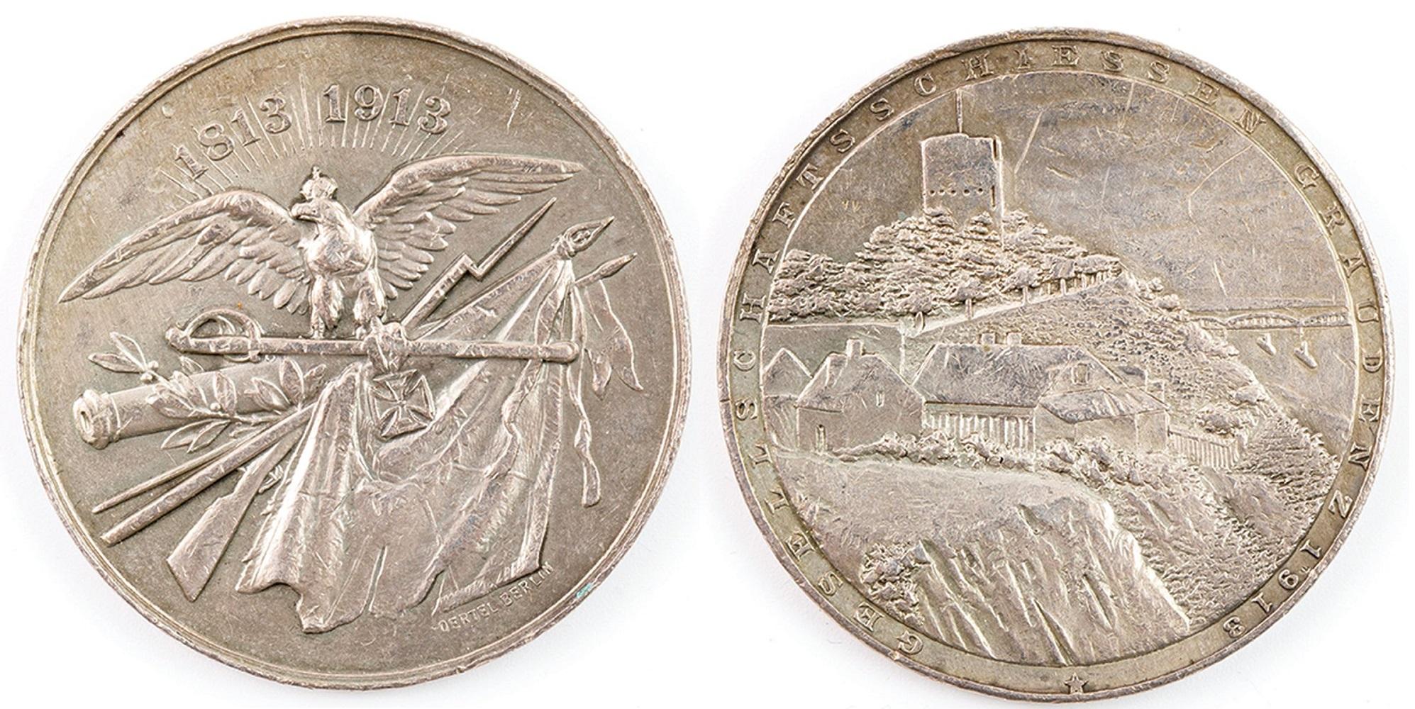 MEDAL, 100 LAT WOJNY WYZWOLEŃCZEJ, Berlin Oertel, 1913