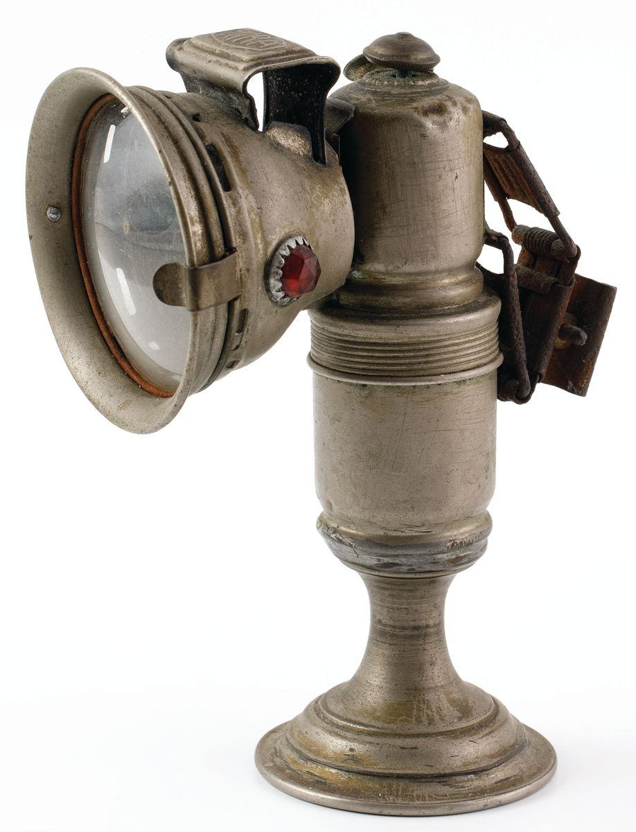 ROWEROWA LAMPA KARBIDOWA MIRA, ok. 1930