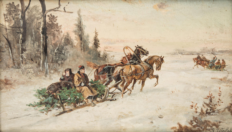 Powrót z polowania, ok. 1900 r.