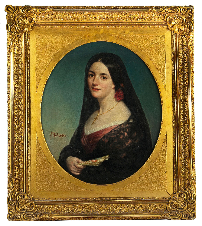 Portret kobiety w stroju hiszpańskim